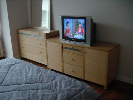 Three bed condo for rent in Nana - TV Bedroom
