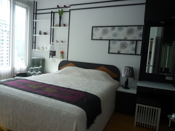 One bed condo for rent in Ratchathewi - Bedroom