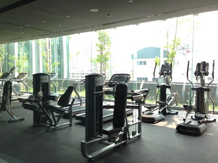 One bed condo for rent in Nana - Gym