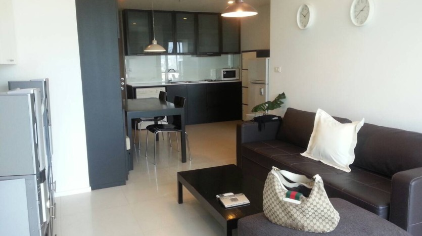 Two bed condo for rent in Ari - Living Room