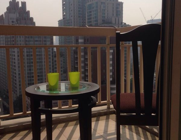 One bed condo for rent in Chidlom - Balcony