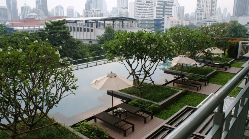 Duplex for rent in Asoke -Swimming pool