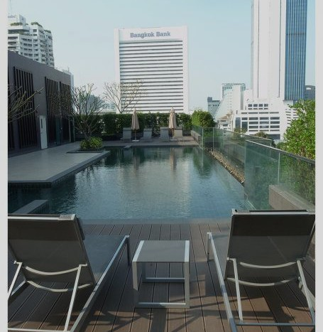 One bed condo for rent in Sathorn - Swimming pool