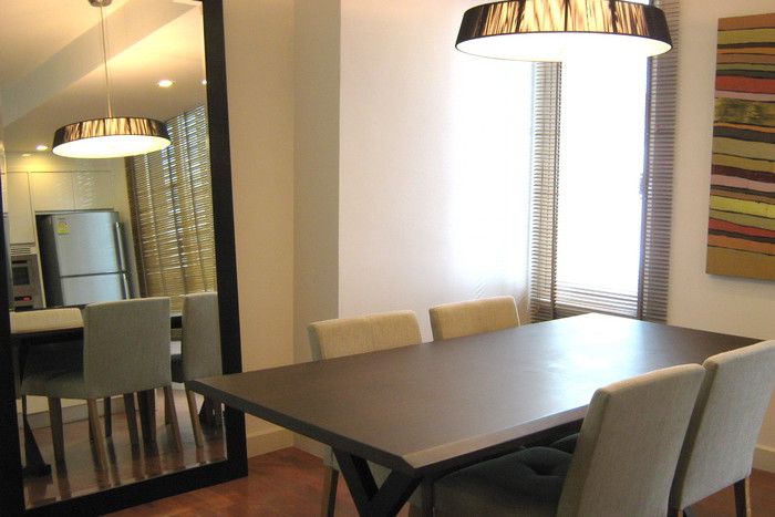 Two bed condo for rent in Asoke - Dining Room