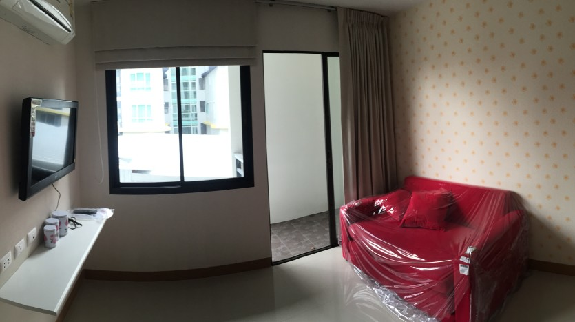 One bedroom condo for rent in Ari - Living room pano