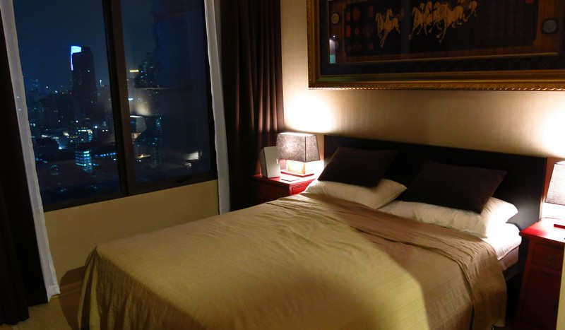 One bed condo for rent in Asoke - Bedroom