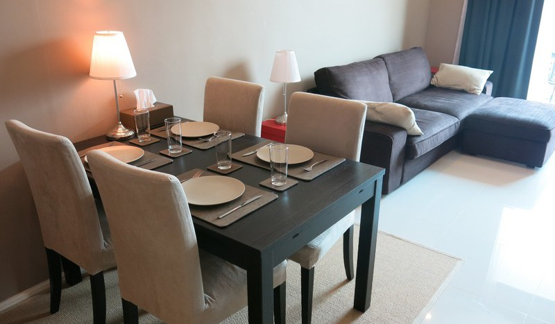 One bed condo for rent in Asoke - Dining