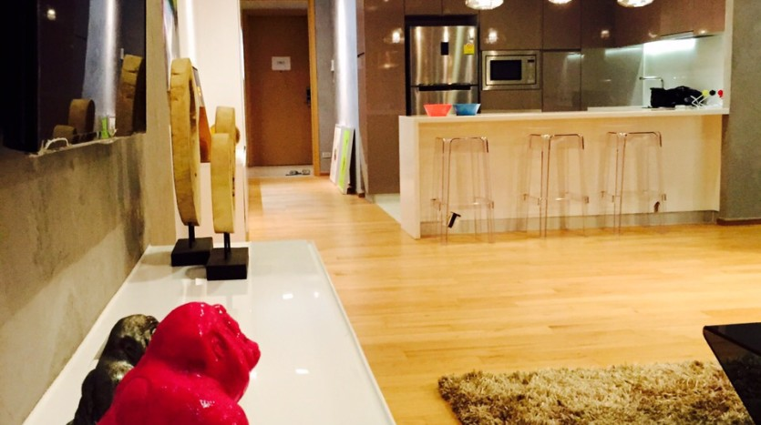 Two bed condo for rent in Nana - Living room 2