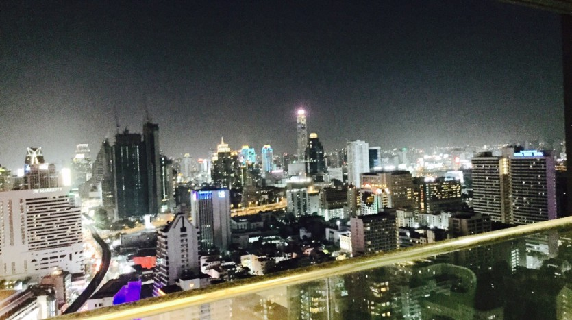Two bed condo for rent in Nana - Night view
