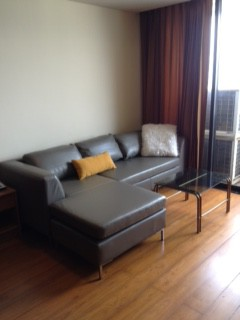 Two bed condo for rent in Asoke - Sofa