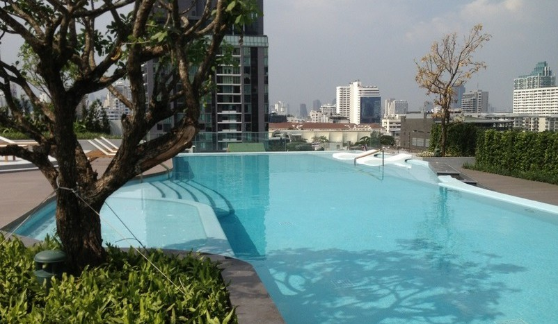 One bed condo for rent  in Ekkamai - Swimming pool