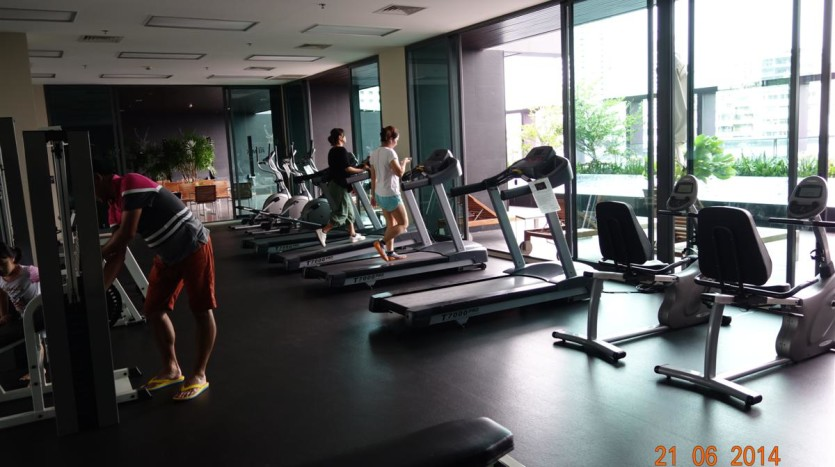One bed condo for rent in Thong Lo - Gym