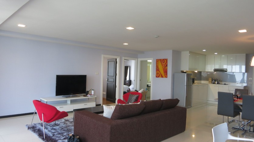 Two bed condo for rent in Phrom Phong - Living room two
