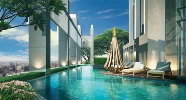 One bedroom condo for rent in Sathorn - Pool