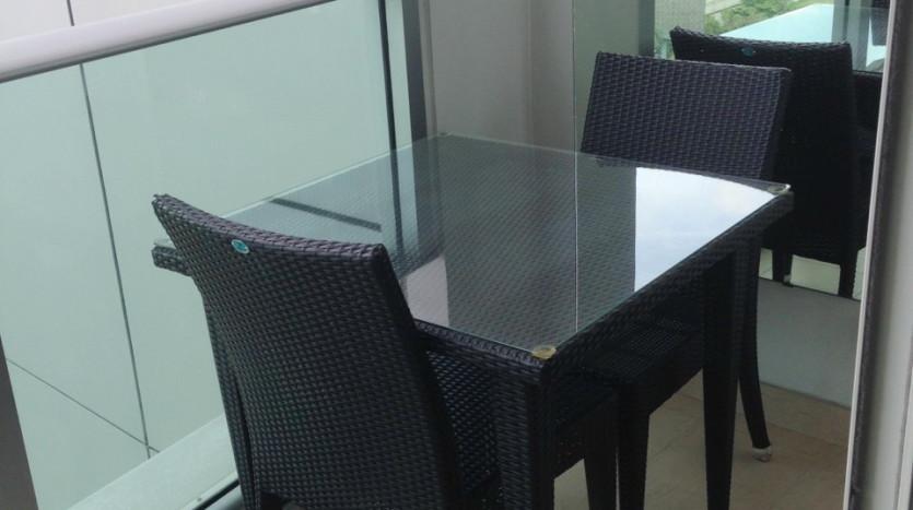 Three bed condo for rent in Asoke - Balcony