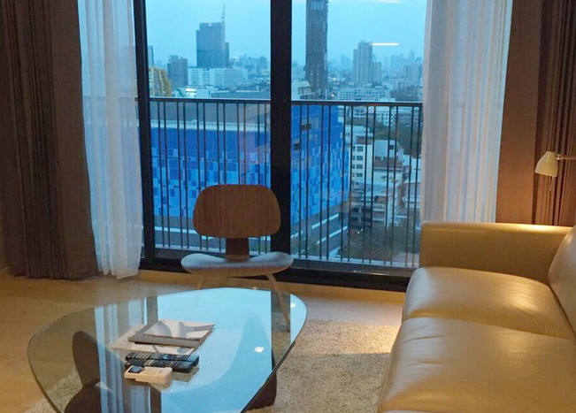 Two bed condo for rent in Ekkamai - View from LivingRoom