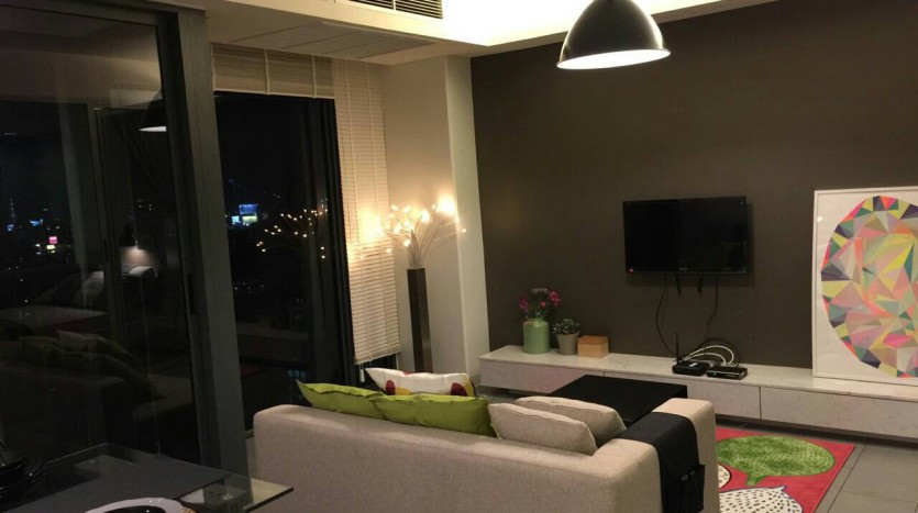 Two bed condo for rent in Ari - Living area
