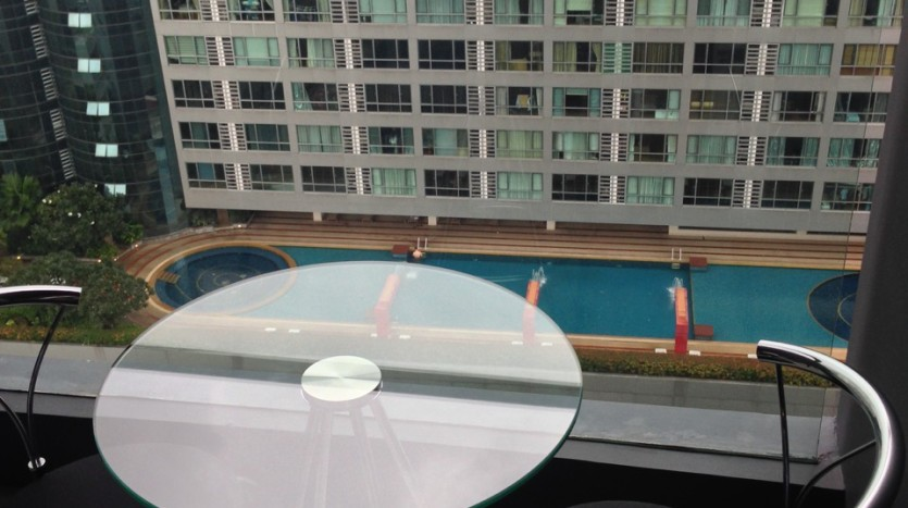One bedroom condo for rent in Nana - Balcony