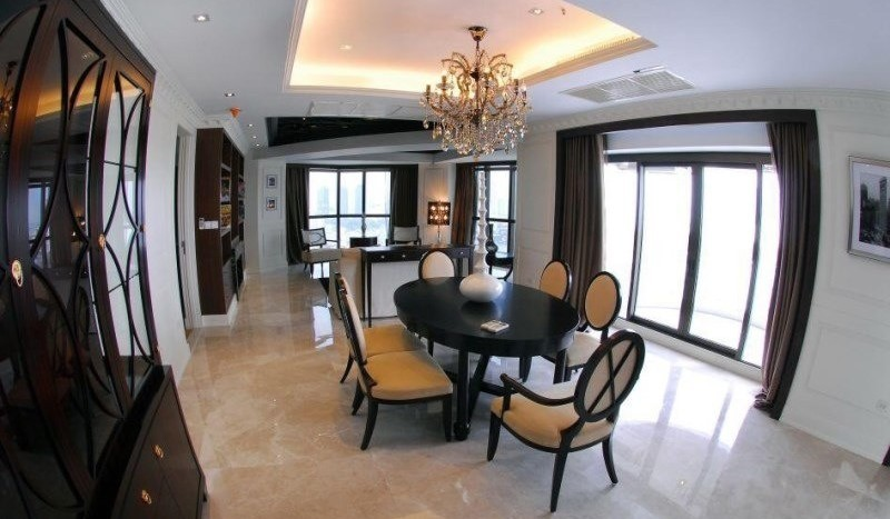Luxury three bed unit at Silom for rent - Dining