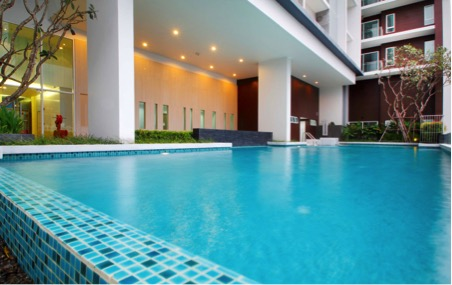 Two bedroom condo for rent in Phrakanong - Pool