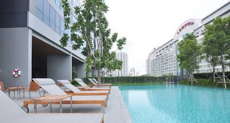 One bedroom condo for rent in Nana - Pool