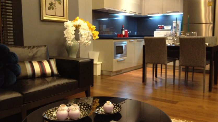 One bedroom unit for rent in Thong Lo - Living area