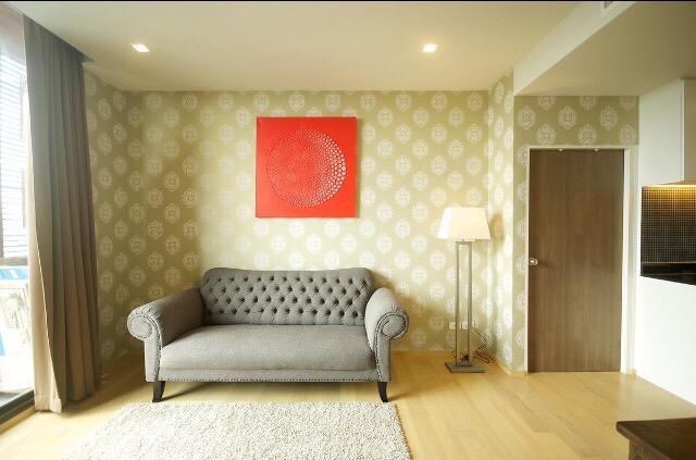 One bedroom unit for rent in Ari - Living room