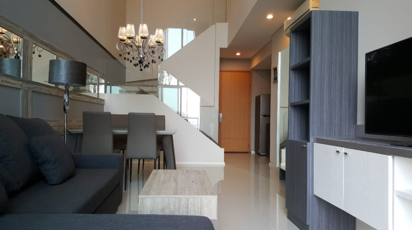 Two bedroom duplex for rent in Asoke - Unit view
