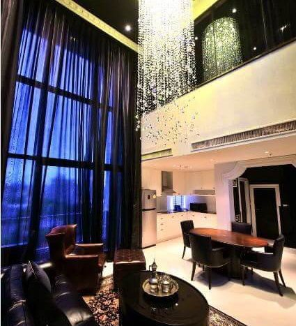 Luxurious three bedroom duplex for rent in Phrom Phong - Downstairs