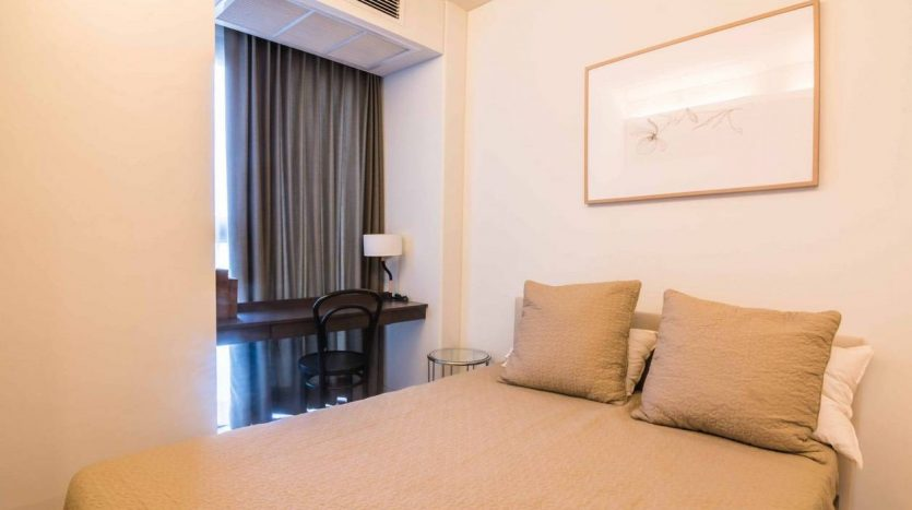 Stylish two bedroom condo for rent in Ari - Master bed