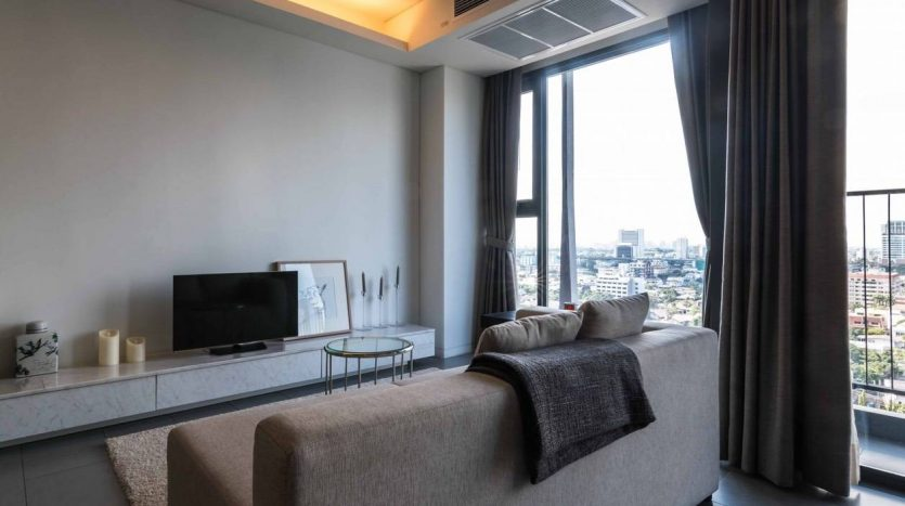 Stylish two bedroom condo for rent in Ari - Living room