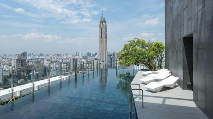 Two bedroom condo for rent in Ratchathewi - Pool