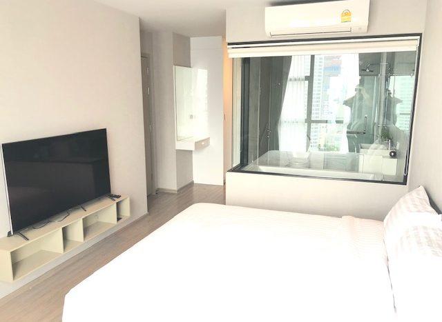 Two bedroom condo for rent in Ekamai - Bedroom