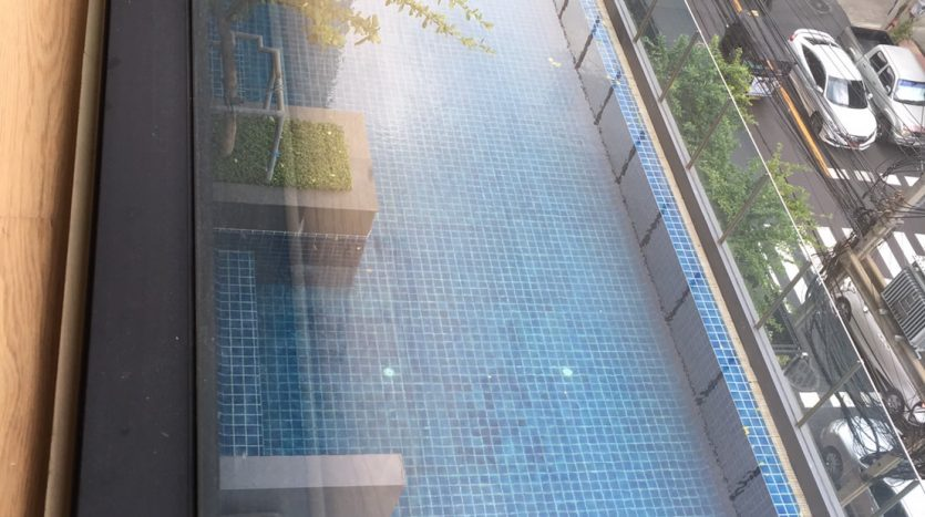 One bedroom condo for rent in Ari - View to pool