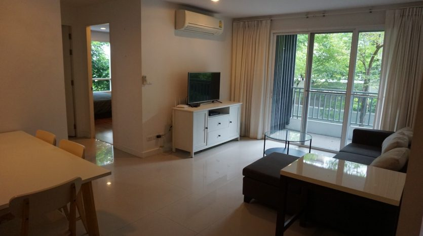 Two bedroom condo for rent in Sanampao - Living room