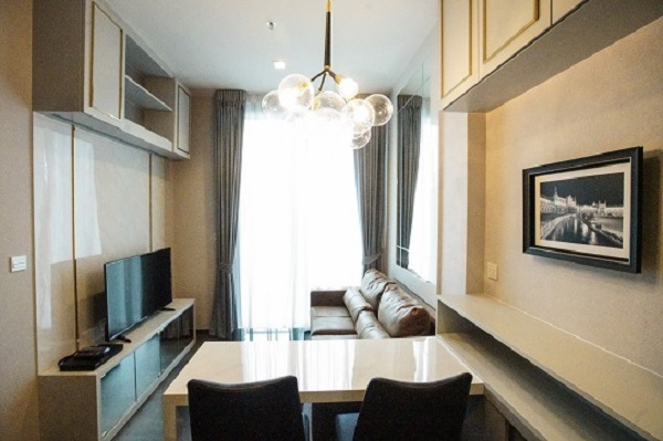 One bedroom condo for rent in Asoke - Dining